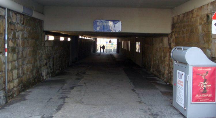 Durchgang unter der Bahn am Nussdorfer Platz - saniert